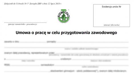 Nowa umowa o pracę w celu przygotowania zawodowego